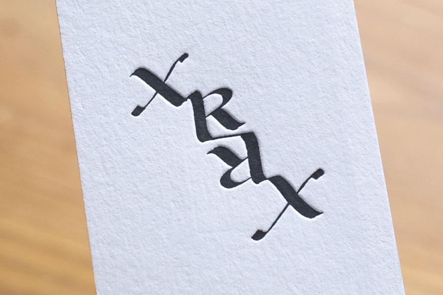 X-Ray Art Lab様 活版印刷名刺