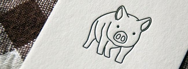 活版印刷でのロゴやイラスト