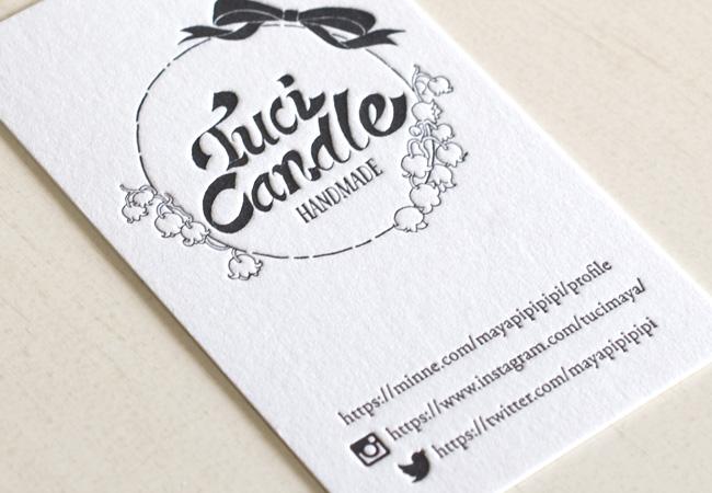 tuci candle様活版印刷ショップカード2
