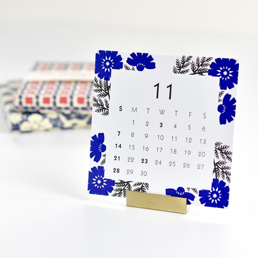 2021年レタープレスカレンダー11月