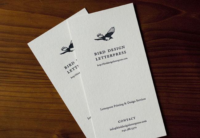 バードデザインレタープレスショップカード01