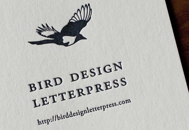 バードデザインレタープレスショップカード02