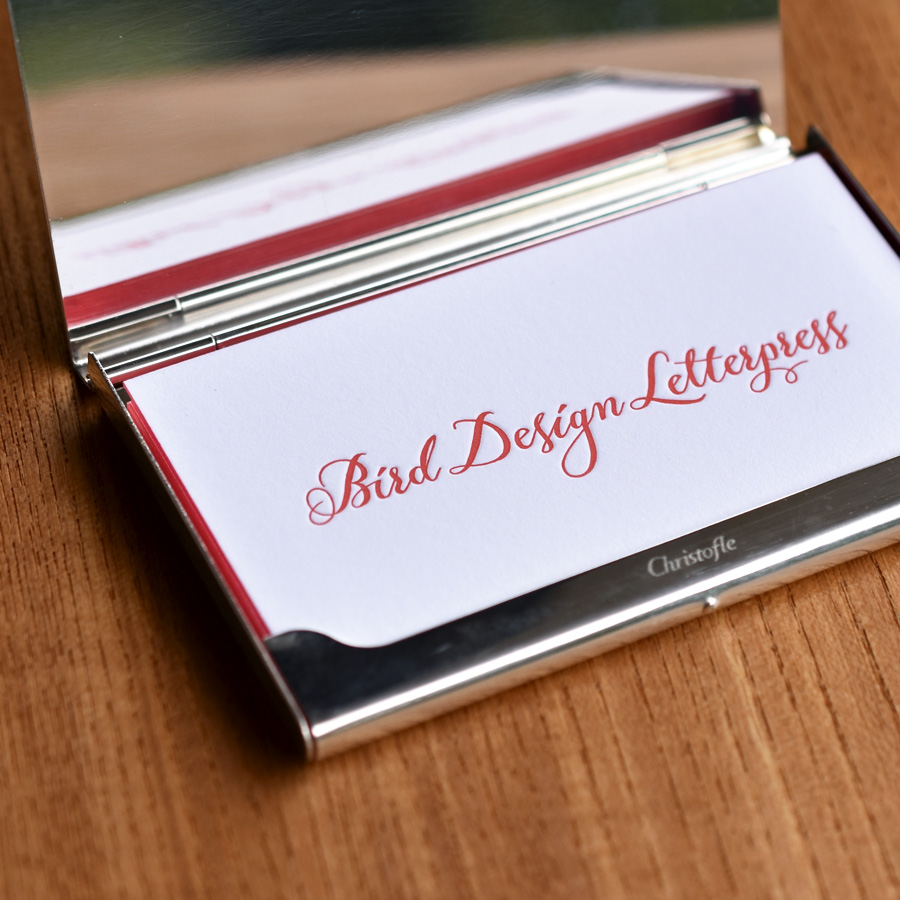 Bird Design Letterpress 活版印刷名刺