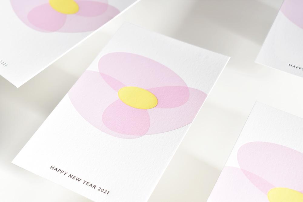 バードデザインレタープレス、2021年活版印刷年賀状