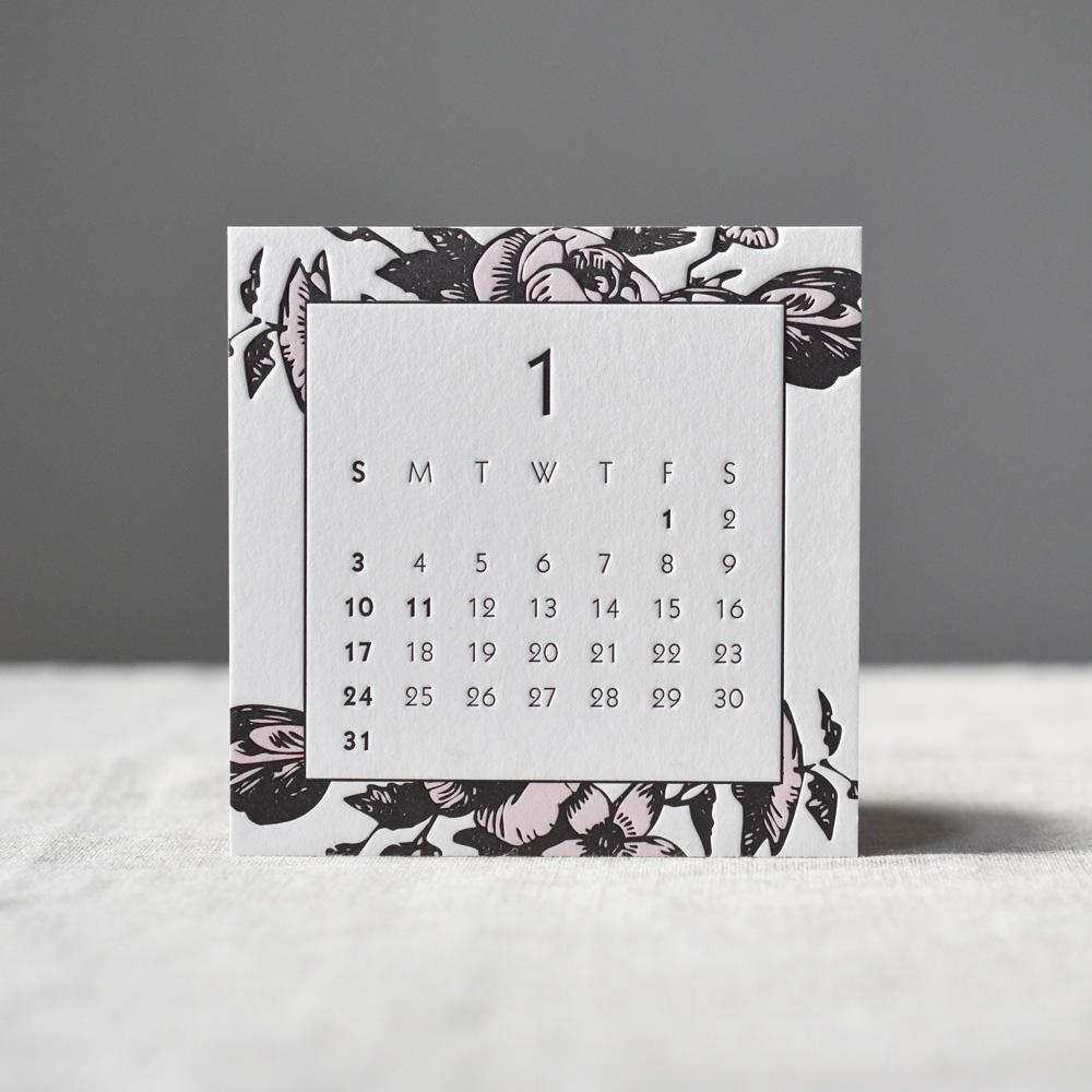 Madu&Bird Design Letterpress 2021レタープレスカレンダー