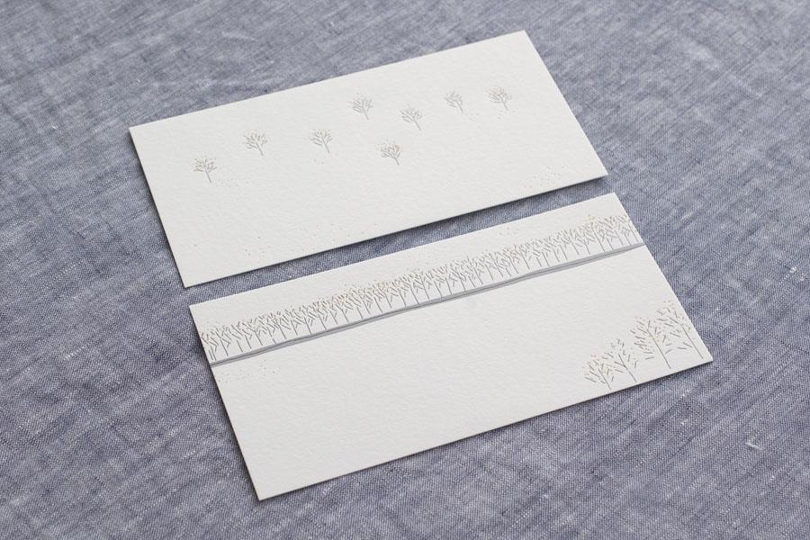 安西水丸『ON THE TABLE』活版印刷オリジナルポストカード