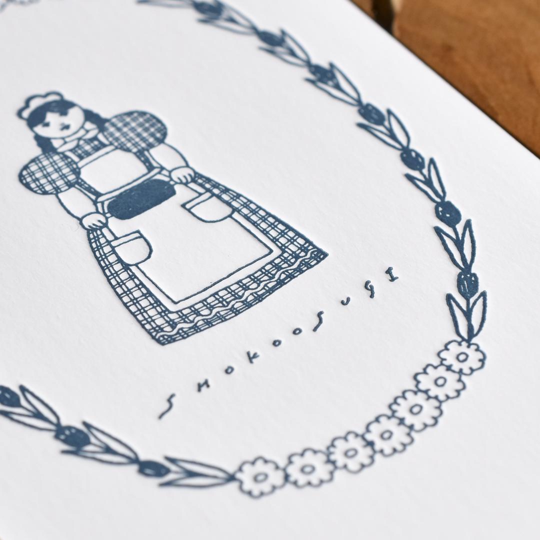 大杉祥子様、活版印刷名刺クローズアップ