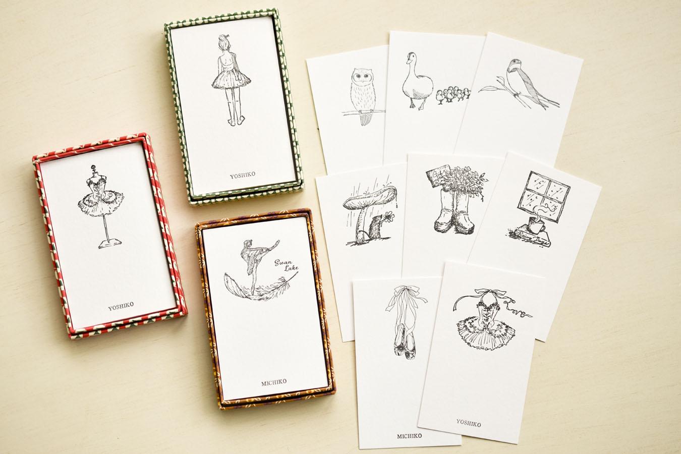 名古屋 活版印刷ワークショップ オリジナルメッセージカード2